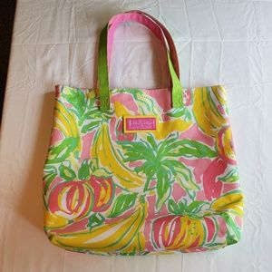 Lilly Pulitzer for Estee Lauder Fruit Tote bag